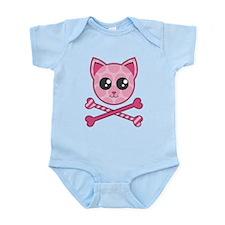 Kawaii Kitty Crossbones Infant Bodysuit