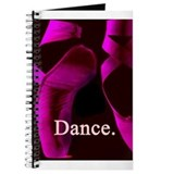 Hot Pink Pointe Shoes Dance. Journal