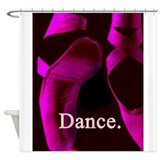 Hot Pink Pointe Shoes Dance. Shower Curtain