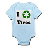 I recycle Tires Infant Bodysuit