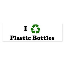 I recycle Plastic Bottles Bumper Bumper Sticker