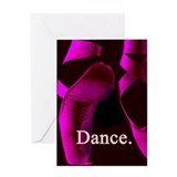 HOT Pink Pointe Dance Greeting Card