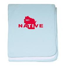 Wisconsin Native - Red baby blanket