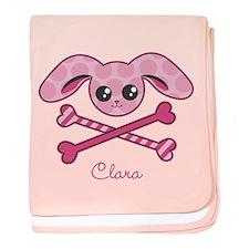 Kawaii Bunny Crossbones baby blanket