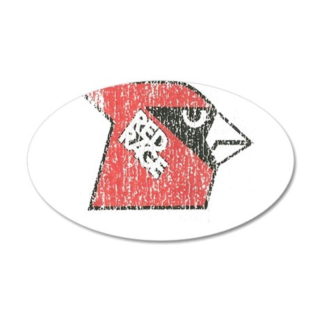 Red Rage Faded 35x21 Oval Wall Decal