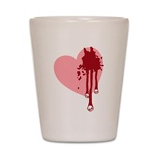 Skull Drips Heart Shot Glass