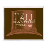 Were All Random Here logo Throw Blanket