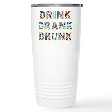Drink Drank Drunk Ceramic Travel Mug