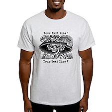 CUSTOM TEXT Vintage Catrina Calavera T-Shirt