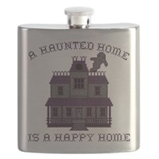 Haunted Home Happy Home Flask