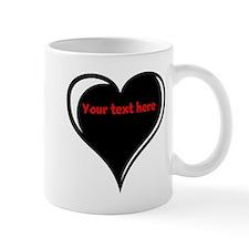 Customizable Heart Mug
