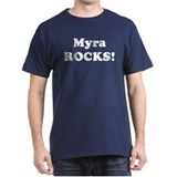 Myra Rocks! Black T-Shirt