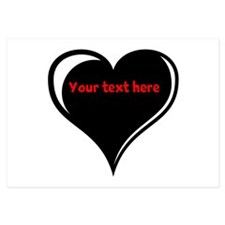 Customizable Heart Invitations