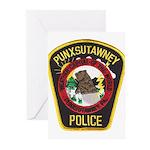 Punxsutawney Police Greeting Cards (Pk of 10)