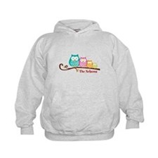 Custom owl family name Hoody