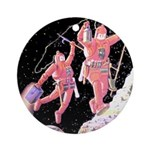 Moon Walk Ornament (Round)