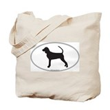 BT Coonhound Silhouette Tote Bag