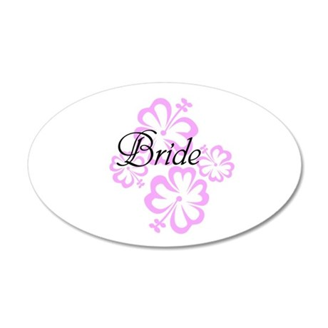 Pink flower Bride/ 20x12 Oval Wall Decal