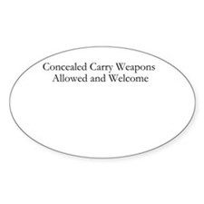 Concealed Carry Welcome Decal