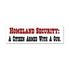 Homeland Security An Armed Citizen Car Magnet 10 x