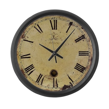 antique style vintage large wall clock by aardvarkdesigns1