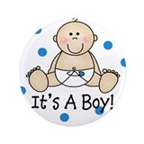 "Cute Baby boy 3.5"" Button"