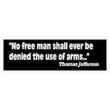 2nd Amendment Jefferson Quote Car Sticker