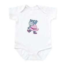 Ballerina Hippo Infant Bodysuit