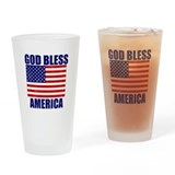 God bless usa Pint Glasses