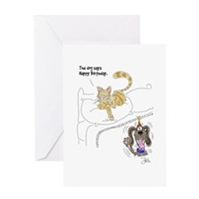 Cat/Dog Birthday Card Greeting Card