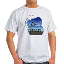 Navy Dad - Father Dog Tag T-Shirt