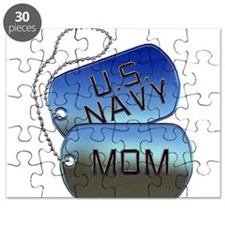 Navy Mom - Mother Dog Tag Puzzle