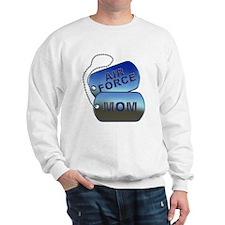 Air Force Mom - Mother Dog Tag Sweatshirt