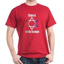Stand with Israel Red T-Shirt
