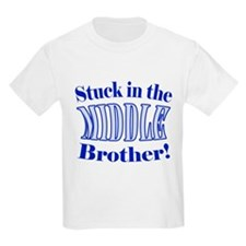 Middle Brother Stuck Blue T-Shirt