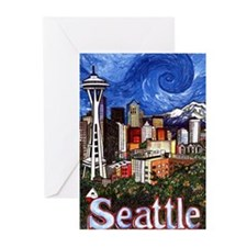 Seattle Skyline Greeting Cards (Pk of 10)