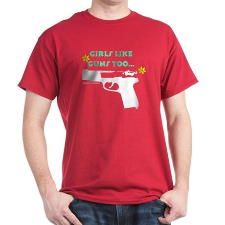 Girls like guns too. Red T-Shirt