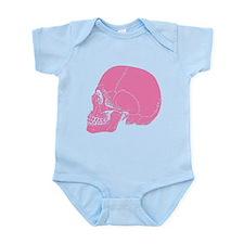 Pink Skull In Profile Infant Bodysuit