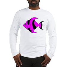 Pink Tropical Fish Long Sleeve T-Shirt