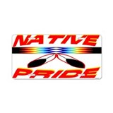 NATIVE PRIDE Aluminum License Plate