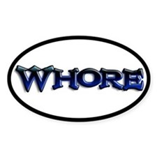 Whore Goth Oval Decal