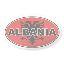 Albanian Oval Flag Oval Decal