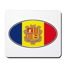 Andorran Oval Flag Mousepad