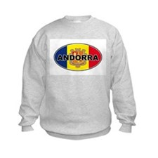 Andorran Oval Flag Sweatshirt