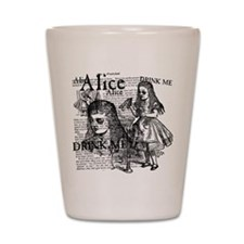 Alice Drink Me Collage Shot Glass
