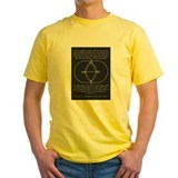 Diagram & Tunc in black & yellow t-shirt