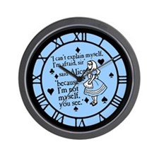 Alice Not Myself Wall Clock