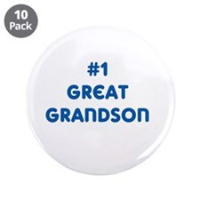 "#1 Great Grandson 3.5"" Button (10 pack)"