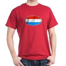Luxembourg Flag Dark Red T-Shirt