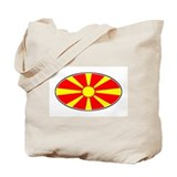 Macedonian Oval Flag  Tote Bag